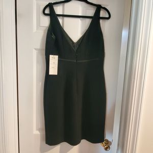 Carmen Marc Valvo black cocktail dress